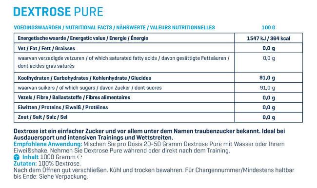 Dextrose Pure Nutritional Information 2