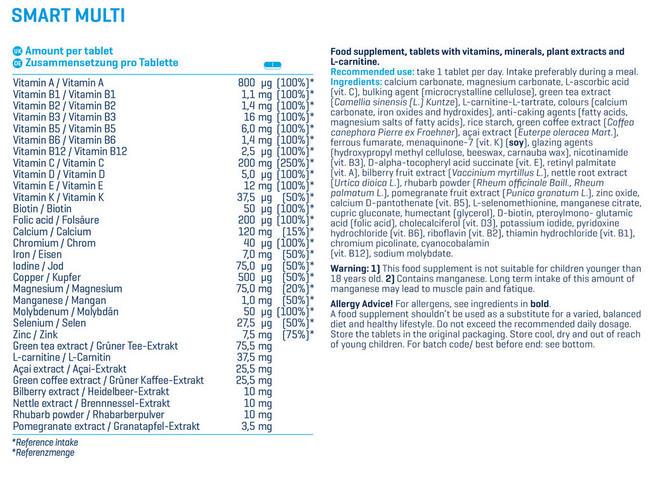 スマート マルチ Nutritional Information 1