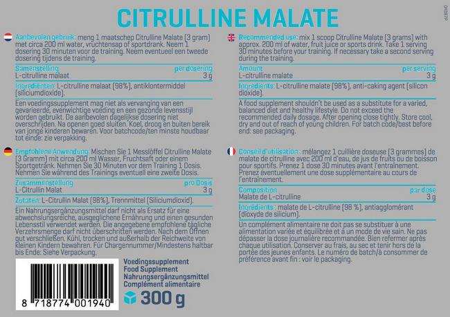 Citrullin Malat Nutritional Information 1