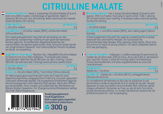 Citrulline Malaat Nutritional Information 1