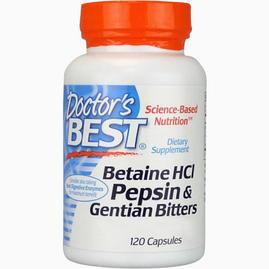 Betaine HCl Pepsin och Gentian Bitters