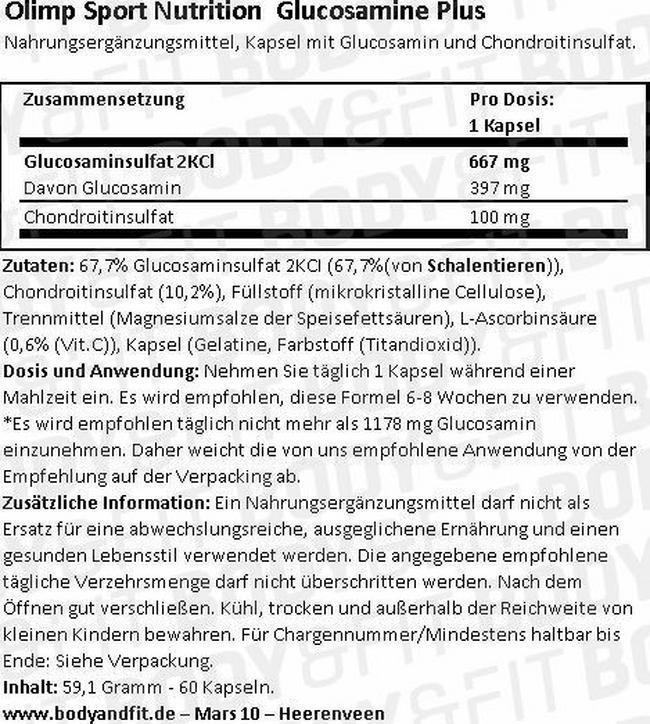 Glucosamine Plus Nutritional Information 1