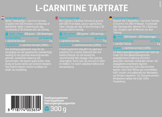 L-Carnitin Tartrat Nutritional Information 1
