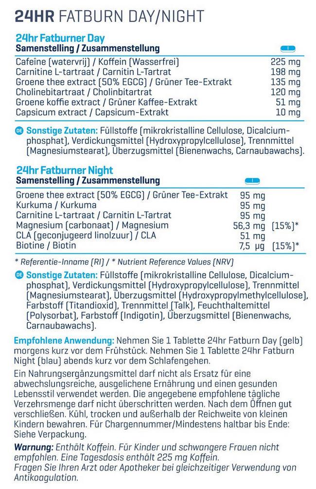 24hr Fatburn Nutritional Information 2