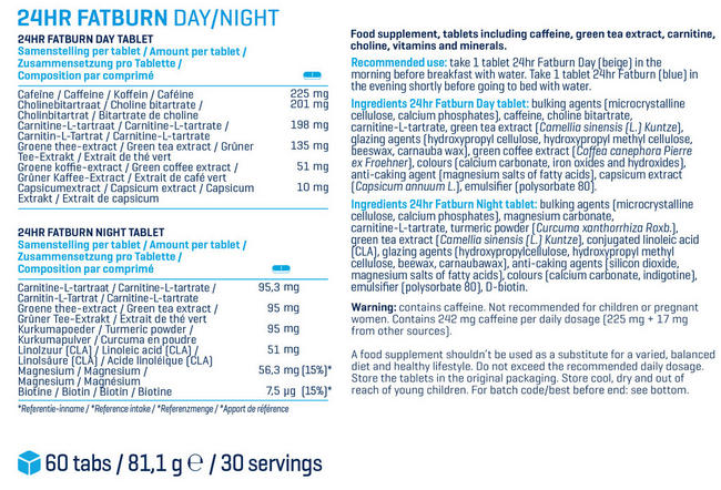24hr Fatburn Nutritional Information 1