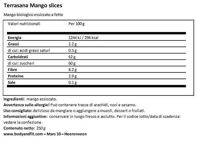 Mango Strips Nutritional Information 1