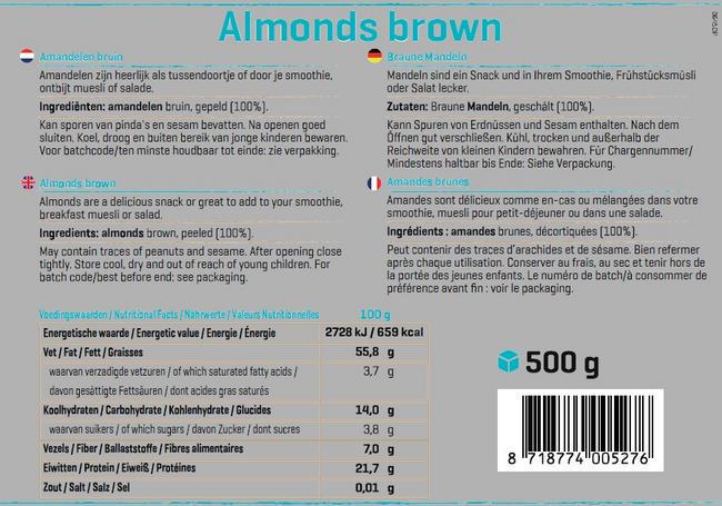 Pure Amandelen bruin Nutritional Information 1