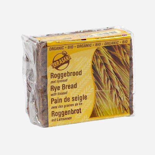 Pain de seigle avec des graines de lin