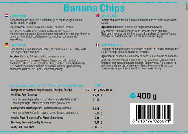 Bananenchips Nutritional Information 1