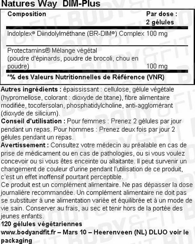 DIM-Plus Nutritional Information 1