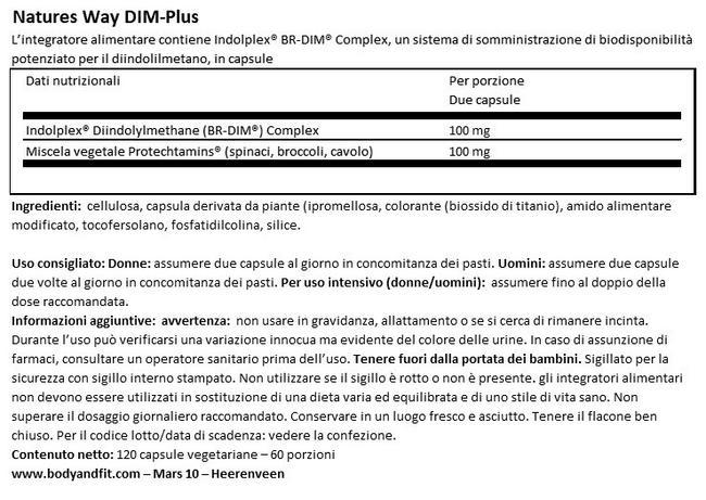 DIM-Plus Nutritional Information 1