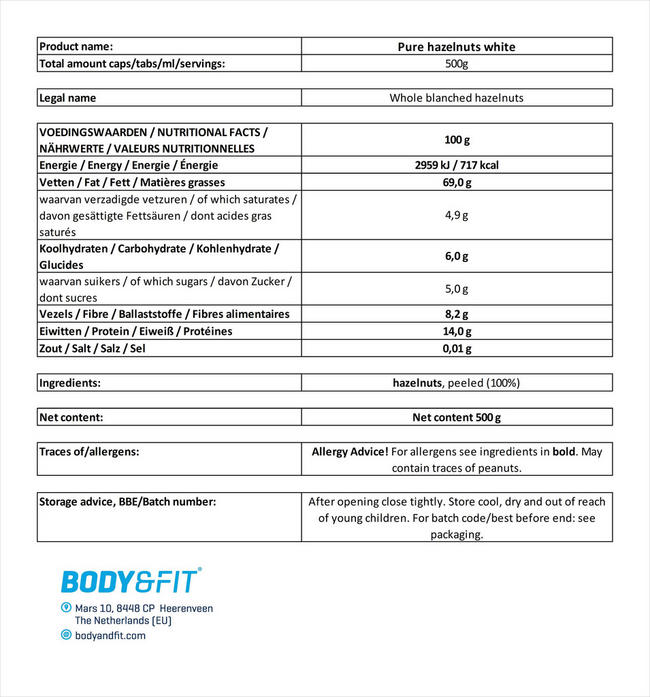 Haselnüsse (weiß) Nutritional Information 3