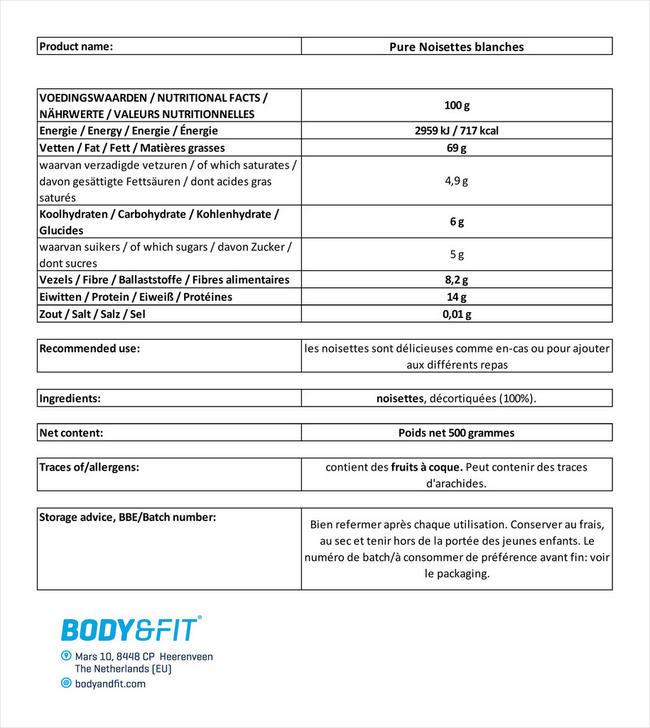 Haselnüsse (weiß) Nutritional Information 4