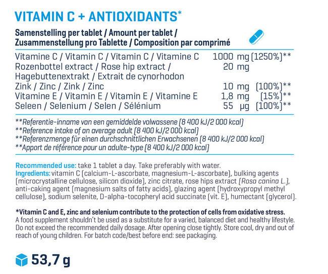 Vitamin C + Antioxidant Nutritional Information 1