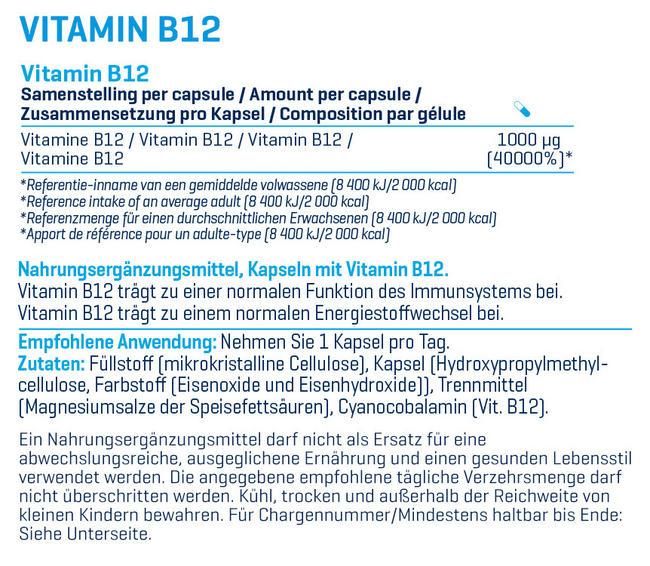 Vitamin B12 Nutritional Information 1