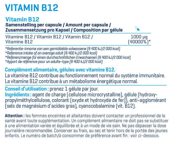 VitamineB12 Nutritional Information 1