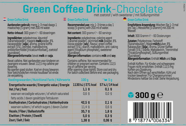 Green Coffee Drink Nutritional Information 1