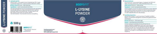 L-Lysin Pulver Nutritional Information 1