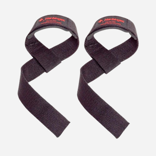Padded Cotton Lifting Straps Black