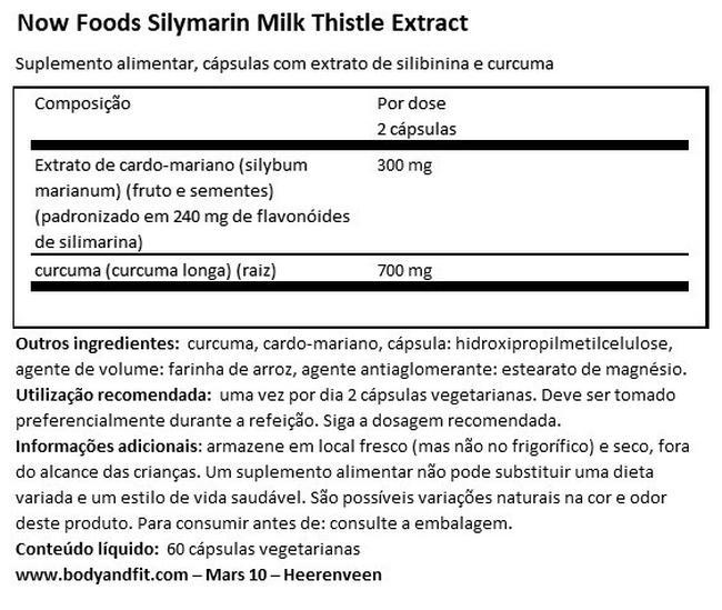 Silymarin Milk Thistle Extract Nutritional Information 1