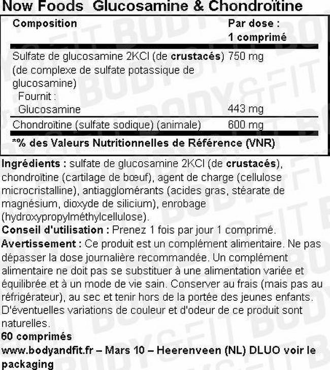 Glucosamine & Chondroitine Nutritional Information 1
