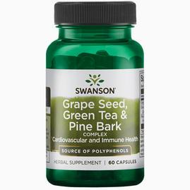 Pépins de raisin, thé vert et écorce de pin Grapeseed, Green Tea & Pine Bark