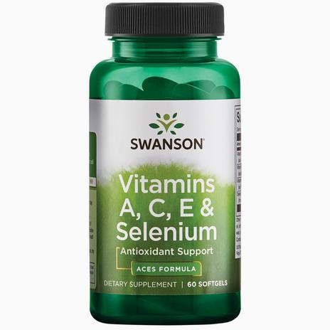 Swanson Ultra Vitamins A, C, E & Selenium - 60 softgels