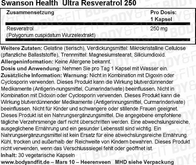Ultra Indole-3-Carbinol W/Resveratrol Nutritional Information 1