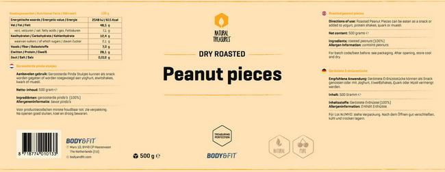 Pure Erdnussstücke Nutritional Information 1