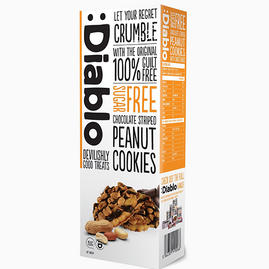 Chocolate Striped Peanut Cookies (sin azúcar)
