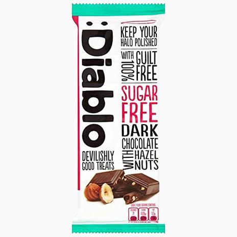Dark Chocolate with Hazelnuts (sugar free)