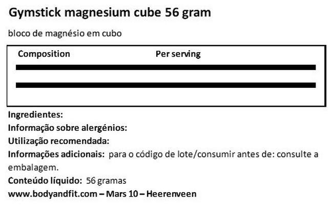 Magnesium Blok 56 Gram Nutritional Information 1