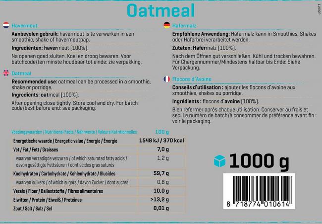 Pure Haferflocken, zart Nutritional Information 1