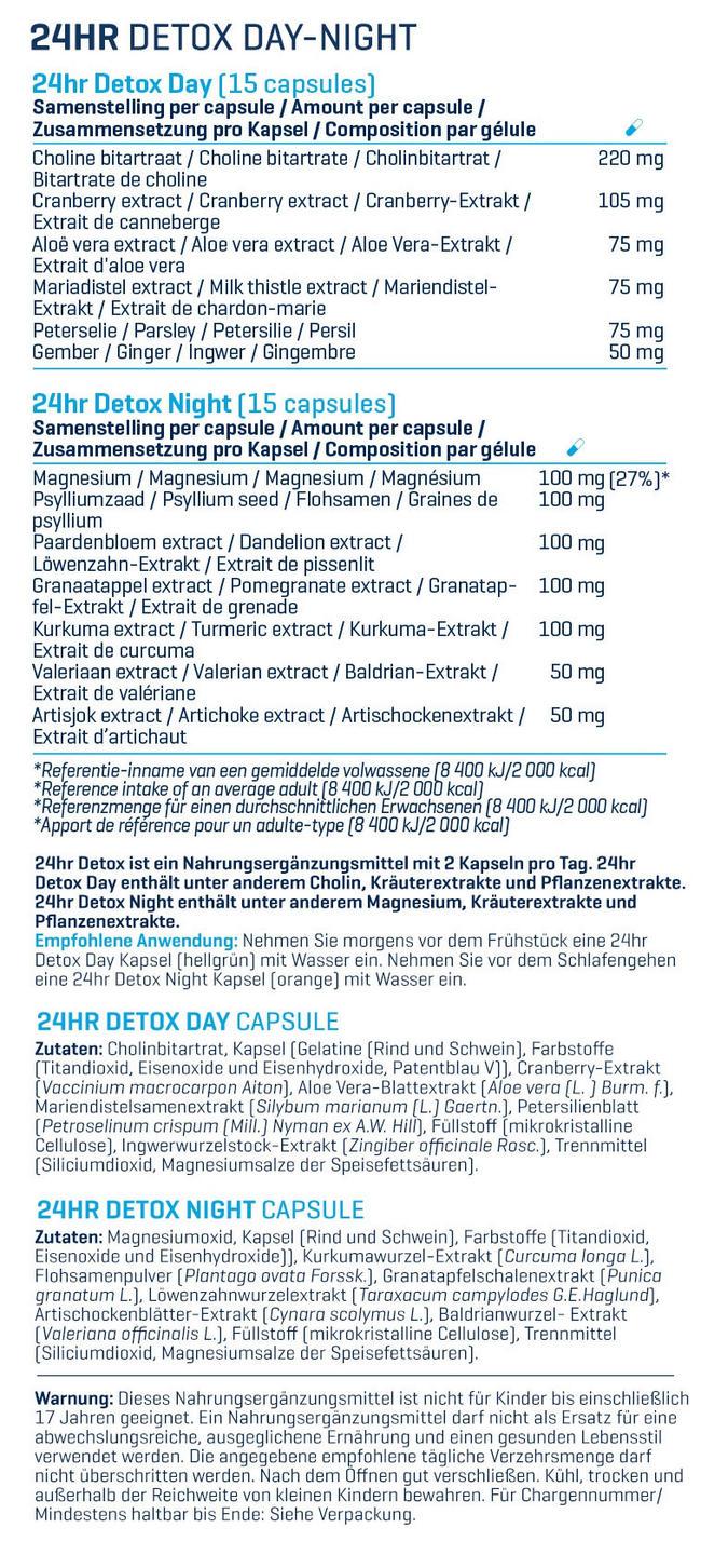 24hr Detox Nutritional Information 1