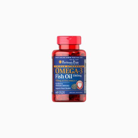 Triple Strength Omega-3 Fish Oil 1360 mg (950 mg Active Omega-3)