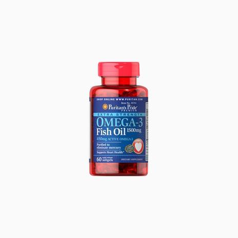 Extra Strength Omega-3 Fish Oil 1500 mg (450 mg Active Omega-3)