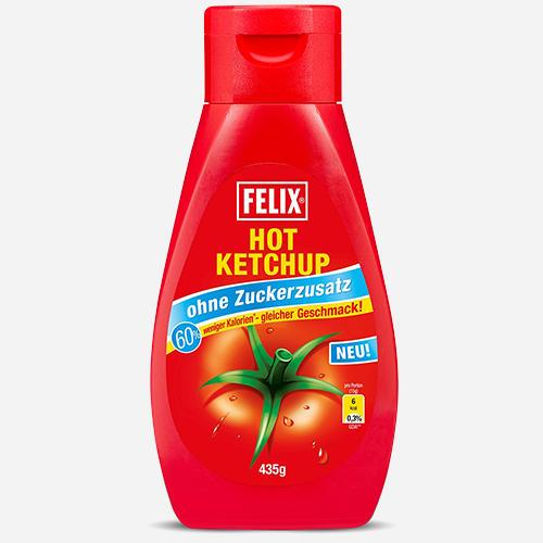 Hot Ketchup, 0 zugefügte Zucker
