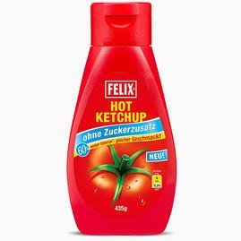 Hot ketchup, 0 toegevoegde suikers