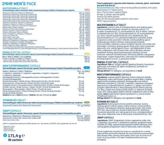 24hr Men's Pack Nutritional Information 1