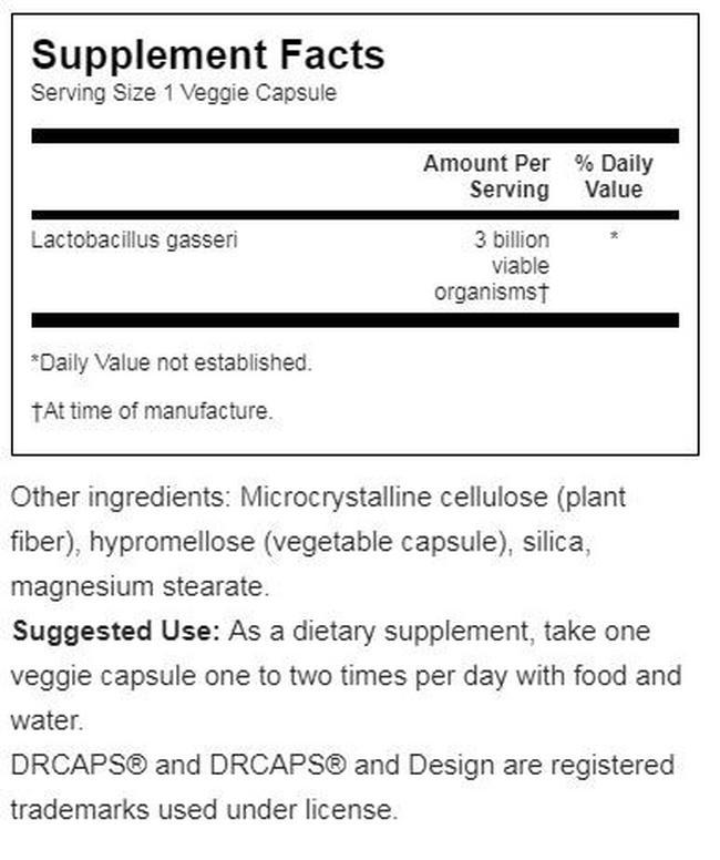 Lactobacillus Gasseri Nutritional Information 3
