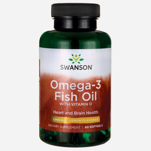 Oméga-3 Huile de poisson & Vitamine D Goût citron