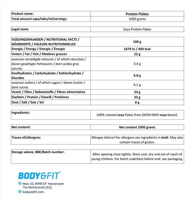 プロテインフレーク Nutritional Information 1