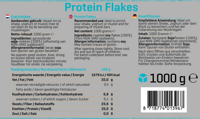 Protein Flakes Nutritional Information 1