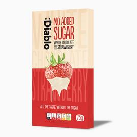 White Chocolate with Strawberry (inget tillsatt socker)