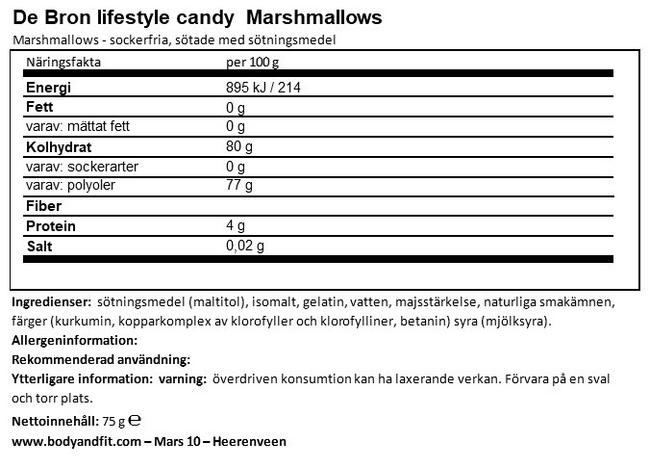 Sugar-free Marshmallows Nutritional Information 1