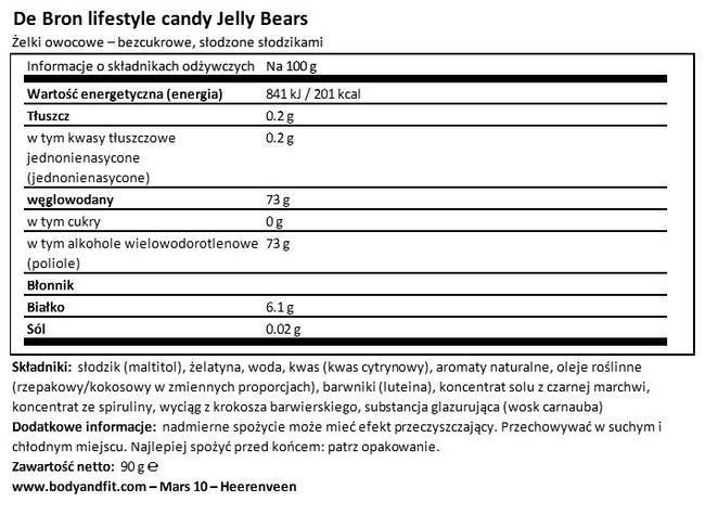 Jelly Bears — Less Calories Nutritional Information 1