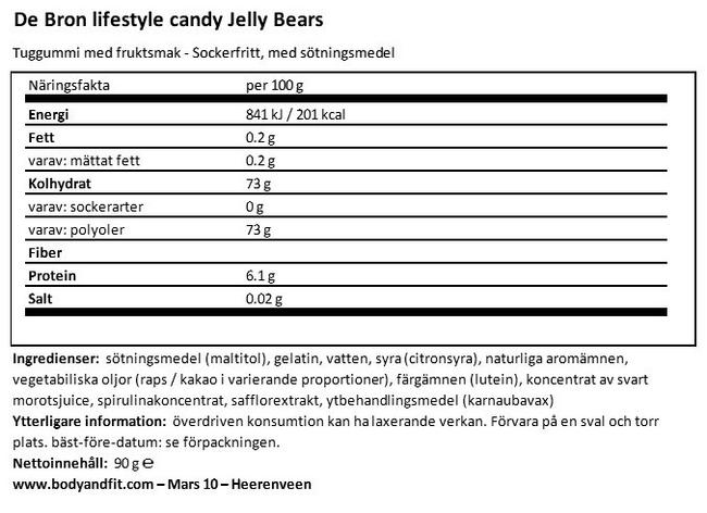 Jelly Bears - Färre kalorier Nutritional Information 1