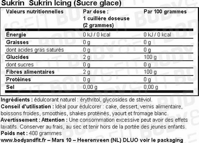 Sukrin Icing (Sucre glace) Nutritional Information 1