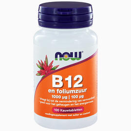 Vitamine B12 1000 mcg avec 100 mcg d'acide folique