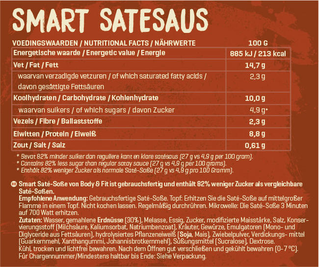 Smart Saté-Soße Nutritional Information 1